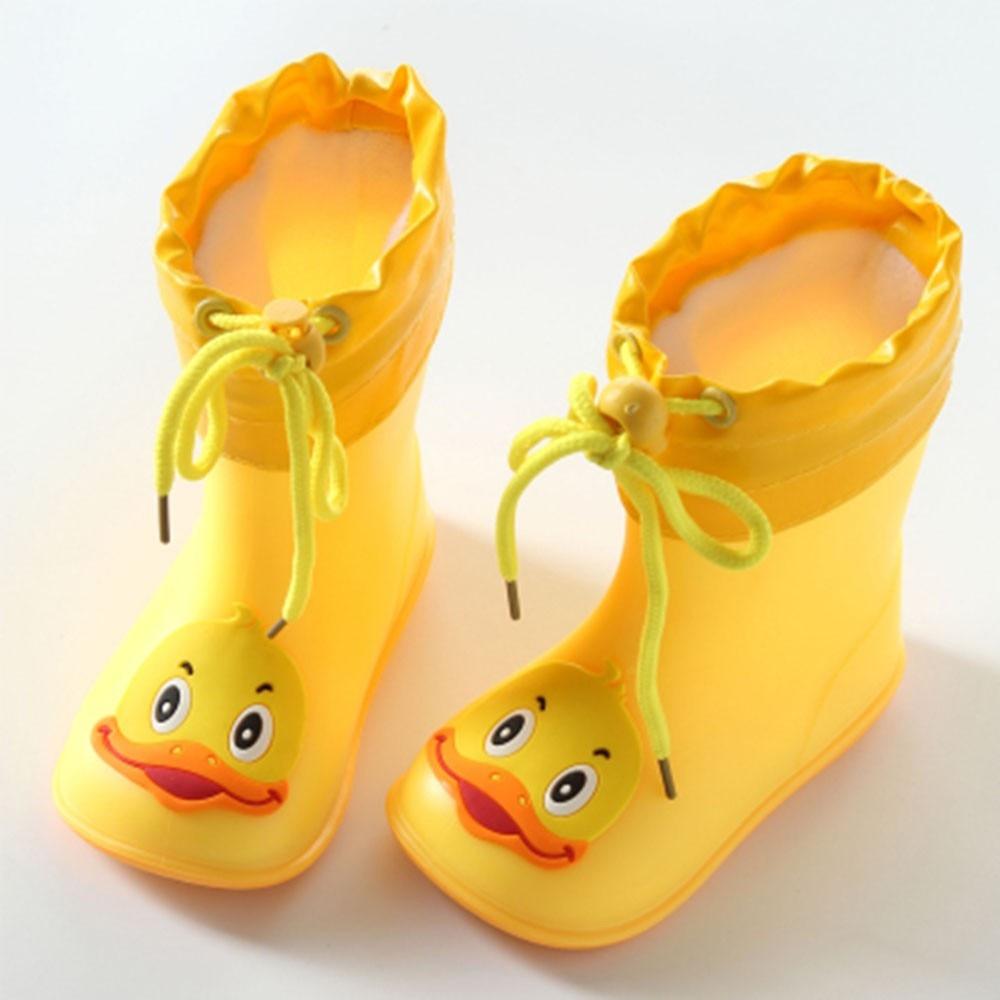 Toddler Infant Kid Children Baby Cartoon Duck Rubber Waterproof Boots Rain Shoes