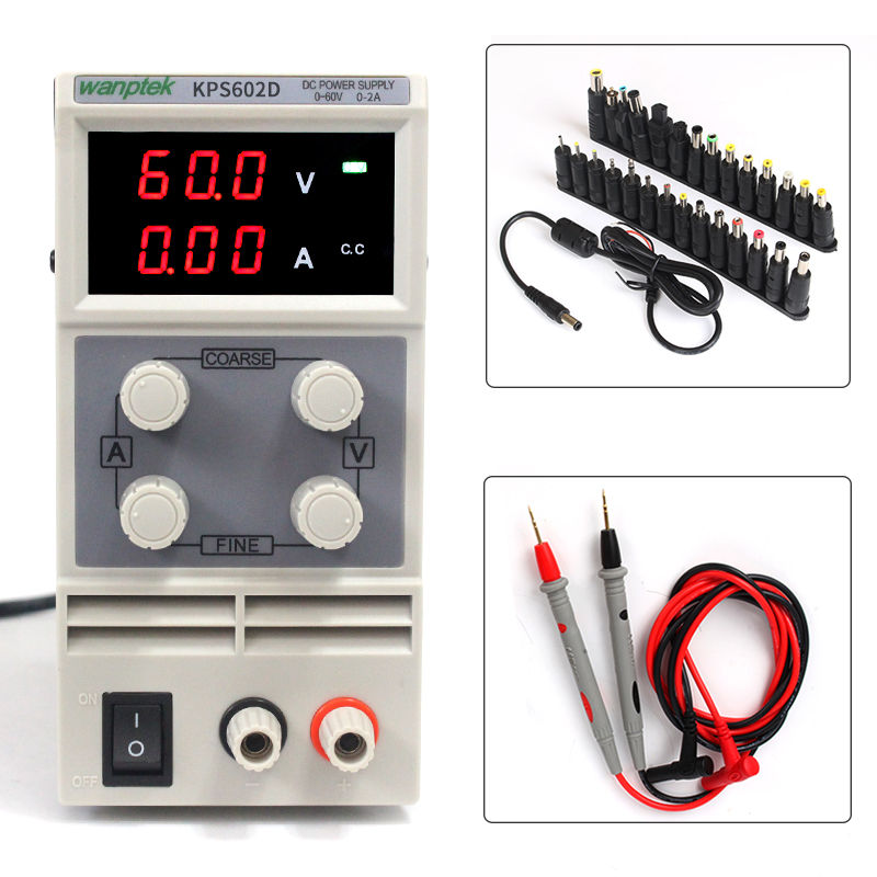 High precision KPS602D Switching DC mini Power supply Adjustable Laboratory 110-220V 60V/2A Voltage regulator digital power sw3010d mini digital dc regulator adjustable power supplier 30v 10a 110v 220v voltage switching power supply digital power