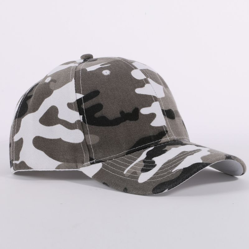 Men and Women Camouflage Half Mesh Army Hat Hiking Cap Desert Jungle Snap Camo Cap Hats