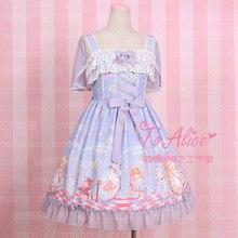Супер милое платье «Алиса в стране чудес»; сказочное платье «Лолита»; платье на бретелях без рукавов; нарядное платье «Долли» со съемной накидкой