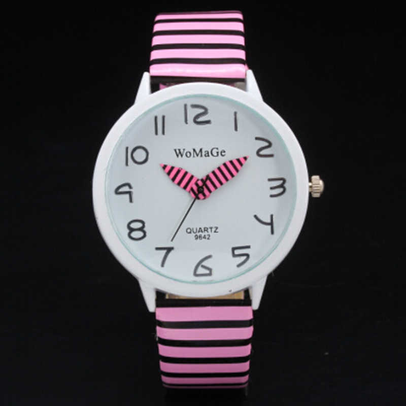2019 Trend Lady Girl Casual Watch Bracelet Pink Leather Strap Watches Women Funny Colorful Pointer Drop Shipping