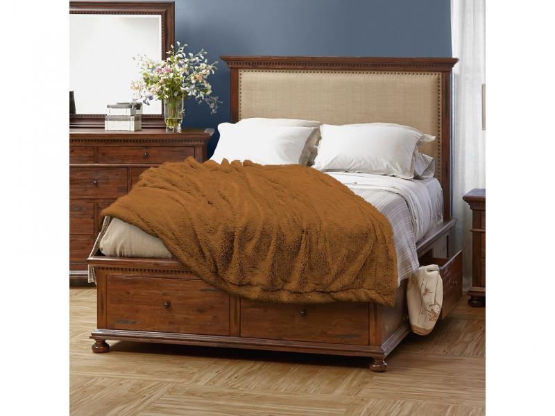 Plaid Euro Buenas Noches, 220*240 cm, Brown multi function check plaid pattern cashmere warm keep scarf light brown