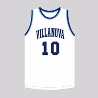 MM MASMIG Donte Divincenzo 10 Villanova Basketball Jersey Stitched White