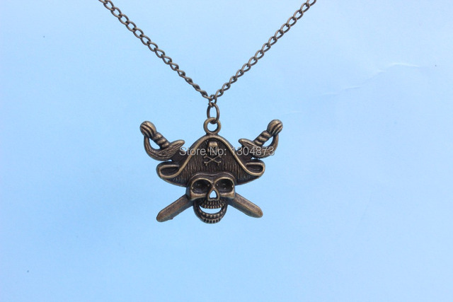 Pirates Of The Caribbean Symbol Necklace Gothic Punk Necklace Skull