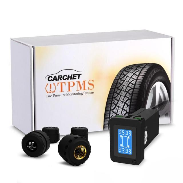 CARCHET TPMS Tyre Pressure Monitoring Intelligent System + 4 External Sensors for Toyota Tire Alarm Tire Pressure Monitor