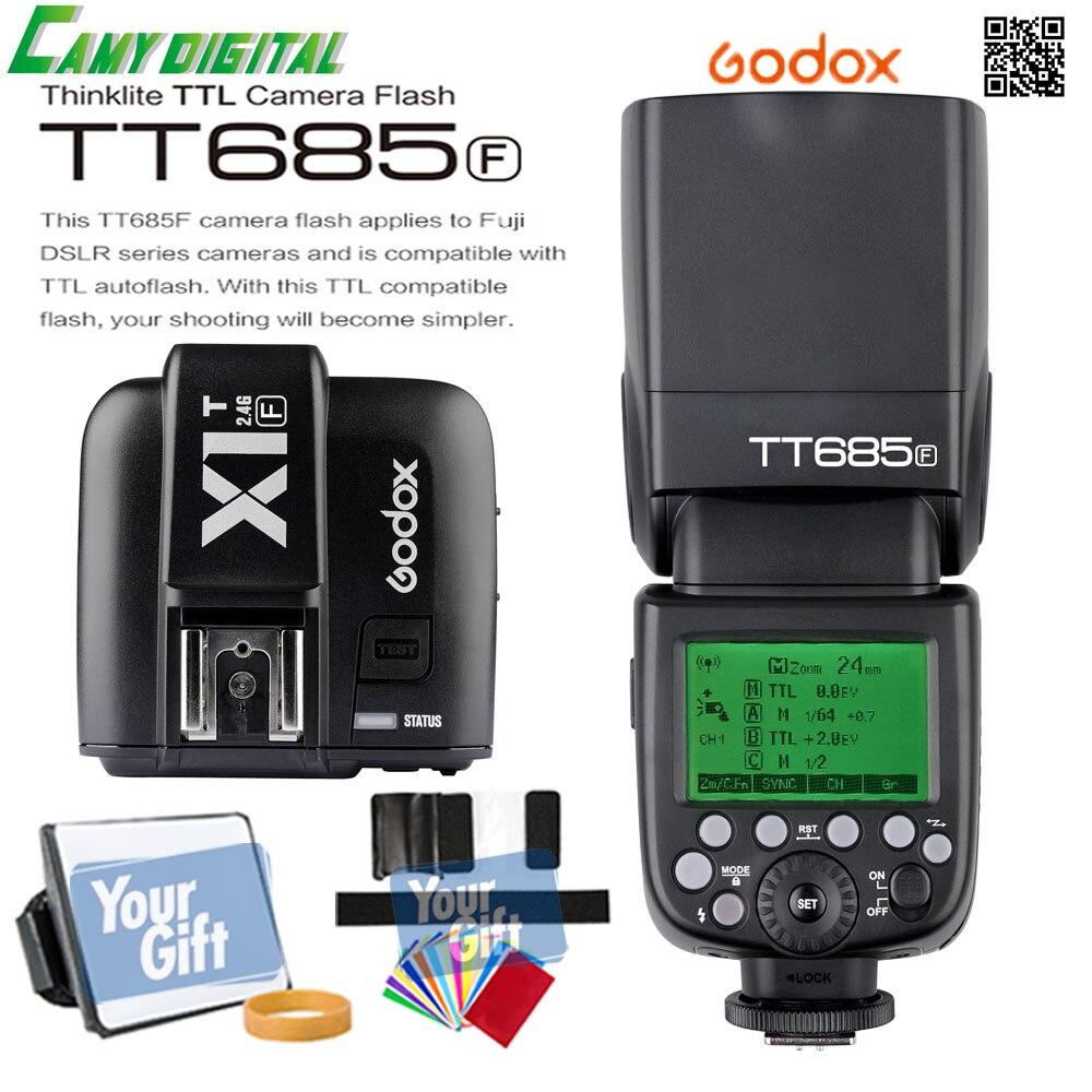 In the Stock Godox TTL TT685F Camera Flash 2.4G wireless HSS 1/8000s GN60+X1T-F Transmitter Kit For Fuji X-Pro2/X-T20/X-T1/X-T2 x transbots boosticus kit bek 01tk for tt briticus japanese version in stock