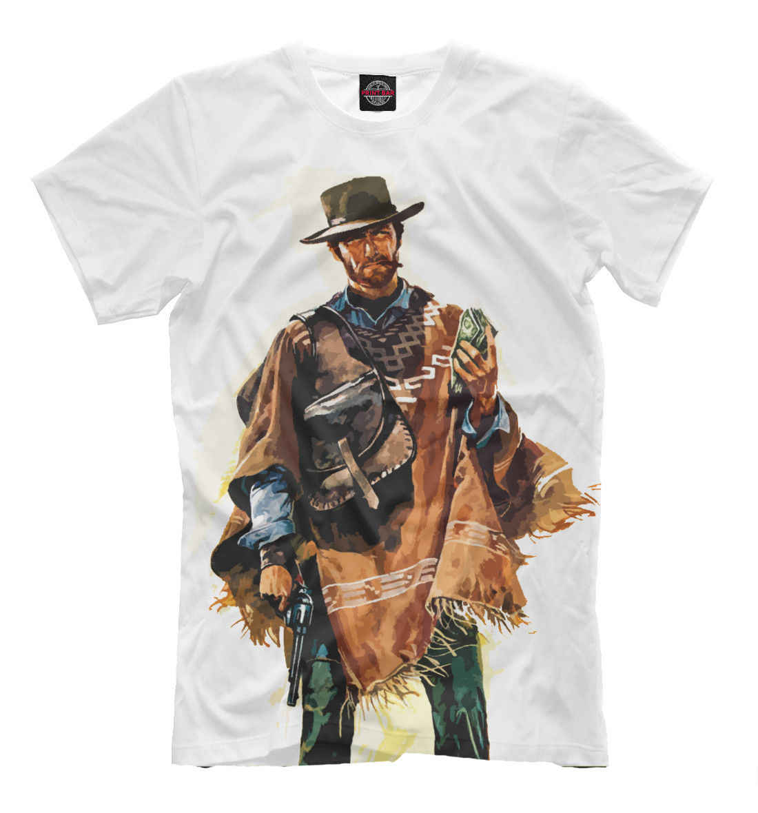 Clint Eastwood t-shirt-wild west stijl wit print westerse tee cowboy, mannelijke Hip Hop funny Shirts goedkope groothandel