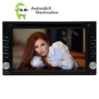 Android 6.0 2Din Car Stereo 6.2 Touch Screen In Dash Car DVD Player Support 3D GPS Navigation Map 3G/4G WIFI OBD2 USB/SD Cam In
