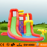 Free Shipping Yard Inflatable Slide Mini Bouncer Inflatable Water Slide with Pool for kids with Free CE blower