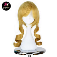 Miss U Hair Long Golden Yellow Curly Hair Cosplay Anime Wig Party Halloween Styles