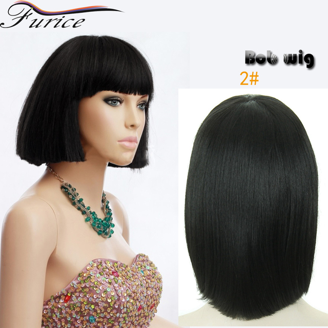 Fashion Style Short Elegant Black Bob Cut Wigs Of Natural Hair Short