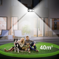 Outdoor Led Wall Light Solar Lamp Motion Sensor Waterproof 136 Led Solar Garden Light Security Gate Porch Light Outside Lighting