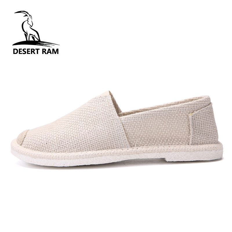 DESERT RAM Brand 2018 Trending Breathable Mesh High Top Footwear Fashion Shoes Men Casual Loafers Summer Canvas Boat Mens Shoe