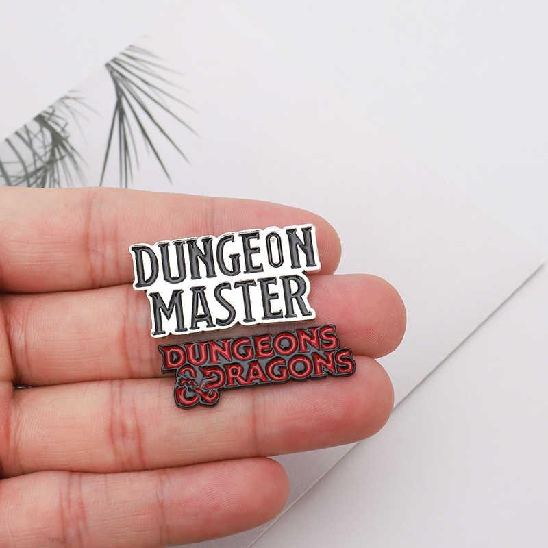 เกมวลี Pins DUNGEON MASTER เข็มกลัดป้าย Cool Punk Dark สไตล์เคลือบกระเป๋าเป้สะพายหลัง Pins สำหรับแฟนเกมของขวัญเครื่องประดับขายส่ง