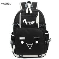 Fashion Axis Powers Hetalia APH Backpack Japan Anime Women Men Cosplay Nylon Luminous Laptop Schoolbag Travel Rucksack