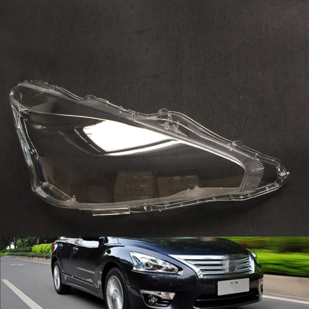 For Nissan Teana 2013 2014 2015 Transparent Car Headlight Headlamp Clear Lens Auto Shell Cover