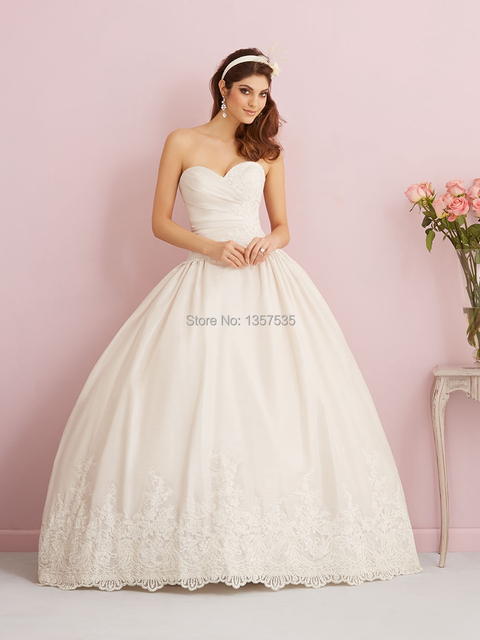 1950s Top Lace Wedding Dresses Ball Gown 2015 Abiti Da Sposa Top ...