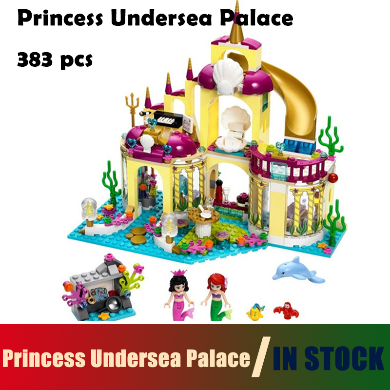 Compatible With lego Friends 10436 Princess Undersea Palace Model Building Kits Blocks Bricks Girl Toy Gift 41063 friends girl elves ragana s magic shadow castle model building blocks bricks toy children toys compatible with lego gift kid set