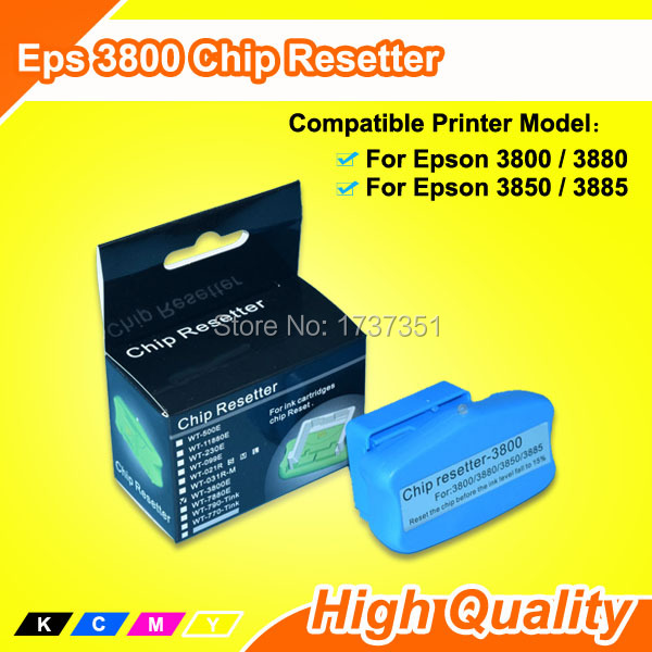 For Epson 3850 Chip Resetter Reset Cartridge Chip and Maintenance Tank Chip waste ink tank chip resetter for epson 9700 7700 7710 9710 printers maintenance tank chip reset