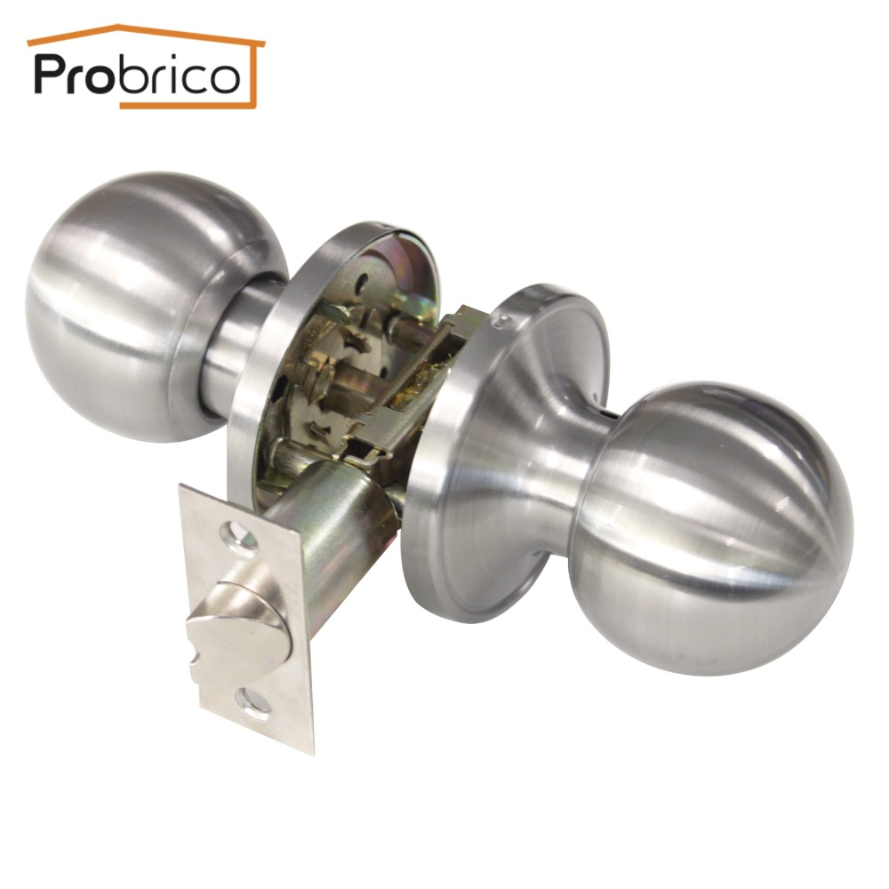 Buy probrico stainless steel passage - Satin nickel interior door knobs ...