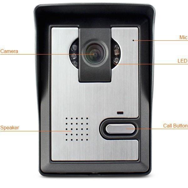 7 inch screen video door phone intercom system night vision door camera visual intercom video doorbell Kit