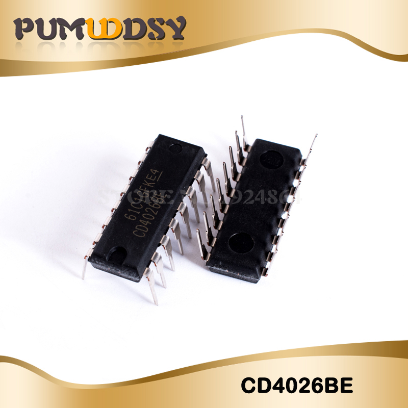 10PCS/LOT <font><b>CD4026BE</b></font> CD4026 4026BE 4026 DIP16 IC image