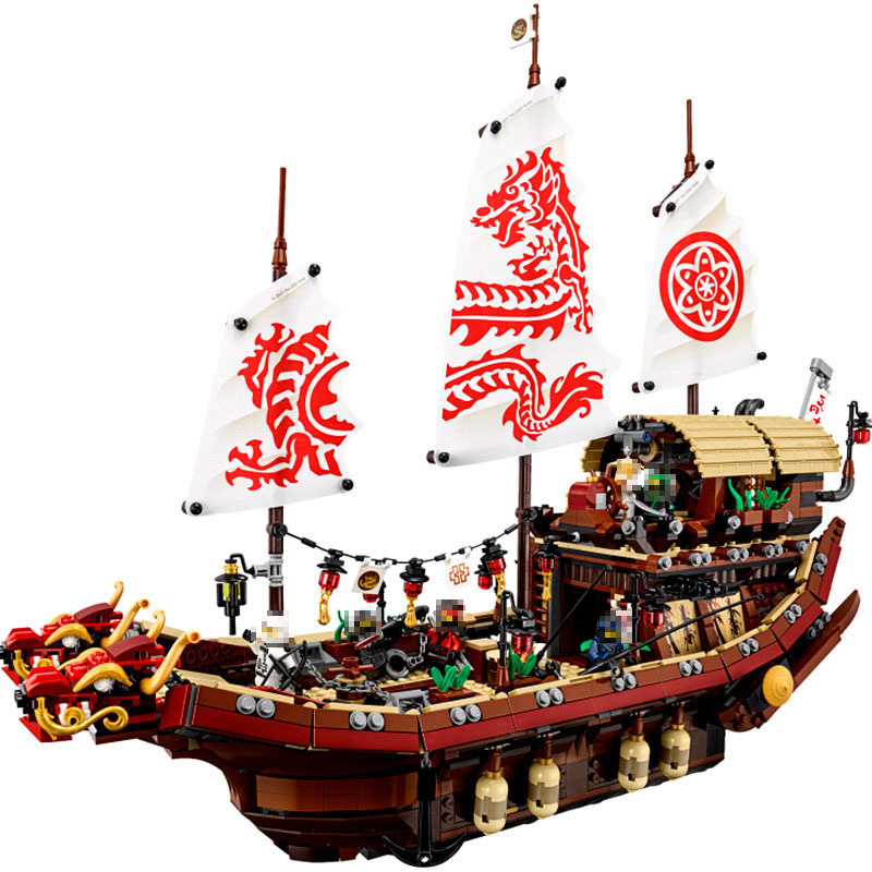 Mailackers Ninjago Destiny's Bounty Ship 2455Pcs Bricks Ninja Movie Boat Model Building Blocks Bricks Toys Children Legoingly 2018 hot ninjago building blocks toys compatible legoingly ninja master wu nya mini bricks figures for kids gifts free shipping