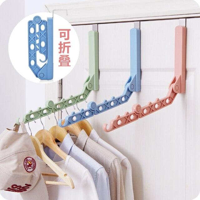 Folding Plastic Hanger Door After Rack Multifunctional Storage Hangers For  Clothes