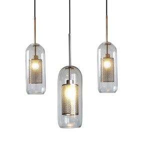 Image 4 - Postmodernistyczna nordycka szklana bańka wisiorek led światła do jadalni kuchnia restauracja lampa wisząca oprawa