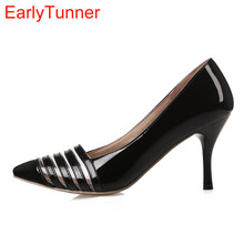 0257a54be8c Brand New Glossy Sexy Rome Women Pumps Red Gold Silver High Heels Ladies  Nude Dress Shoes EM81 Plus Big Small Size 12 30 43 48