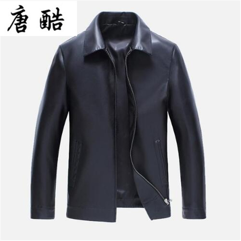2018 Men Male Leather Slim fit Biker Motorcycle jacket Masculino Classical Long Genuine Lambskin Leather Jacket PU