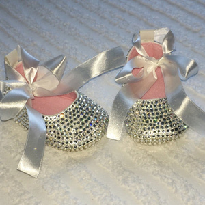 Image 4 - Baby Shoes Sparkling Rhinestones Baptism Baby Show Gift Infant First Walkers Handmade Sweet Princess Flower Girl Sapatos Shoes
