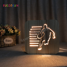 3D Lamp Basketball Soccer Baseball Warm LED  Nigh Light Switch Button as Bedroom Deco