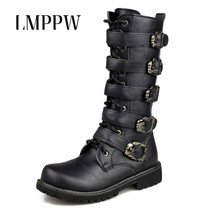 Fashion Military Desert Boots Men Mid-calf Army Tactical Combat Leather Man Work Shoes Outdoor Safety Black  2A