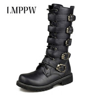 Fashion Military Desert Boots Men Mid calf Army Tactical Combat Boots Leather Man Work Shoes Outdoor Men Safety Boots Black 2A