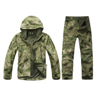 military camouflage uniform hooded combat jacket warm breathable waterproof wearable Tactical camping wicking apparel