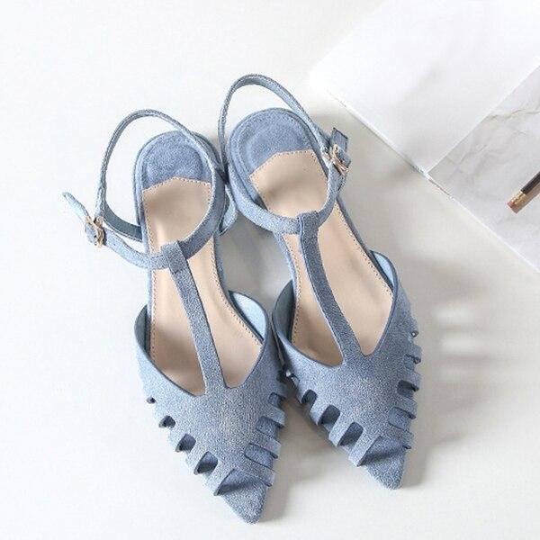 Boussac Schnitte-out Flache Sandalen Frauen Spitz Sommer Strand Sandalen Frauen Weiche Feste Sommer Sandalen Schuhe Swa0097 Elegant Im Stil