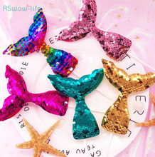 Creative Pearl Fish Tail Cake Insert Plug Flash Sequins Mermaid Decoration For Celebration Birthday Cakes Supplies