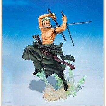 Gran oferta de una pieza 18CM Tigre extremo caza Nirvana Loroya Sauron PVC tres espadas batalla edición Color Original caja