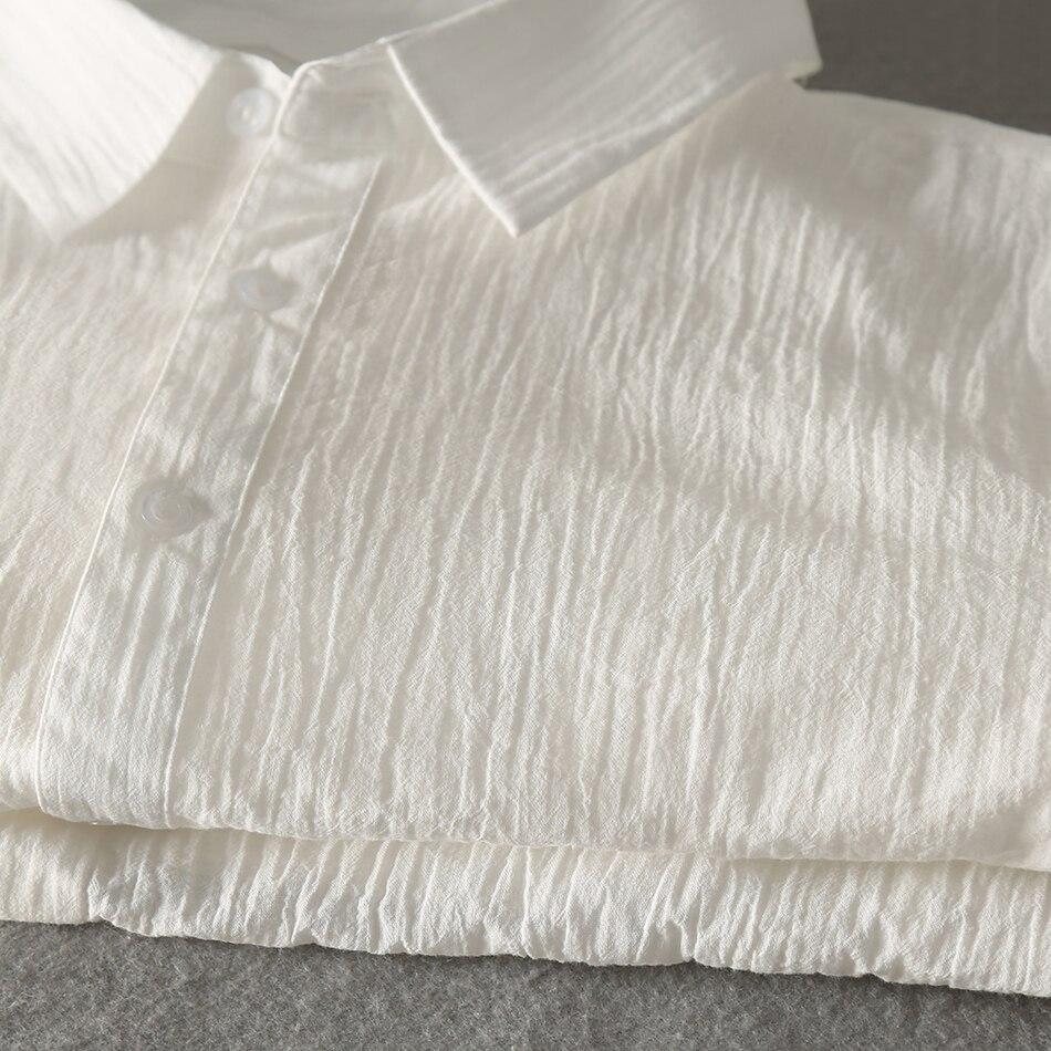 Casual Hawaiian Shirts Men Cotton Linen Designer Brand Slim Fit Man Shirts Long Sleeve White Shirts For Men Clothes Spring 1