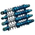 4 Шт./лот Синий 80 мм Сплава Амортизатор набор Для Сканеры ОСЕВАЯ SCX10 1/10 D90 Бесплатная Доставка