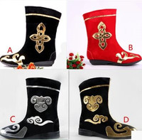Black Dance Boots For Men Red Dance Boots Dance Boots Chinese Ancient Warrior Boots Chinese National