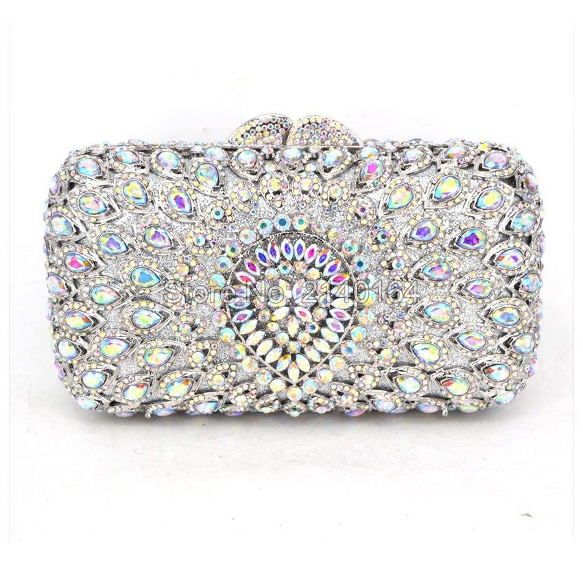 New Women's Handbags Luxury Crystal Wedding Clutch Bags Purse Full Diamond Flowers Party Evening Bags 88620-E women custom name crystal big diamond clutch full crystal hot selling 2017 new fashion evening bags 1001bg