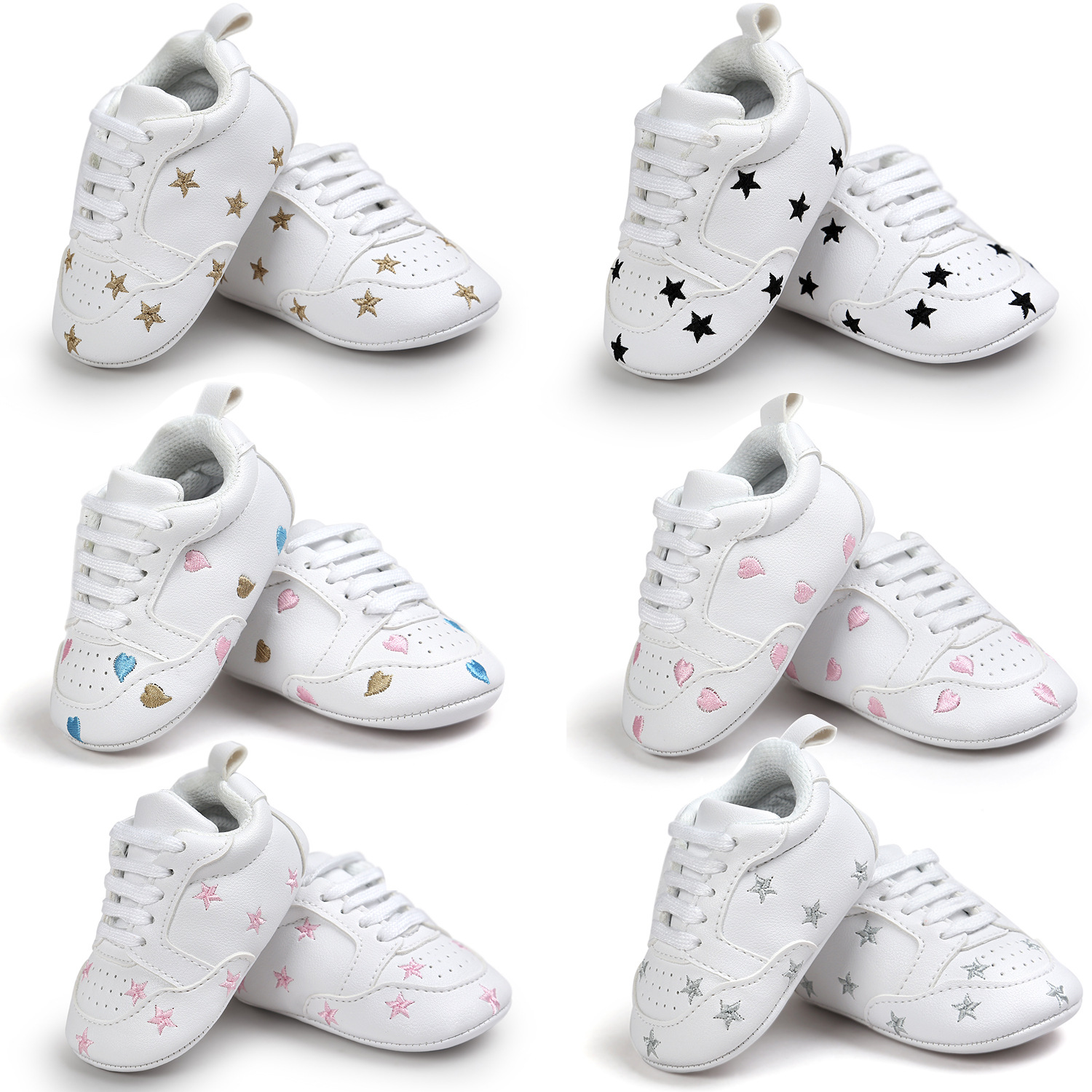 Toddler Boy Sneakers color Star Baby Shoes All Seasons Soft Bottom