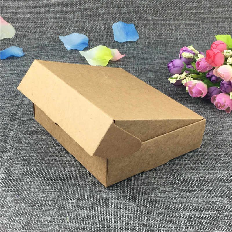 Gran oferta producto 12 unids/lote Multi tamaño en blanco artesanía papel cartón joyería regalo caja de recuerdos fundas de decoración para el paquete de almacenamiento