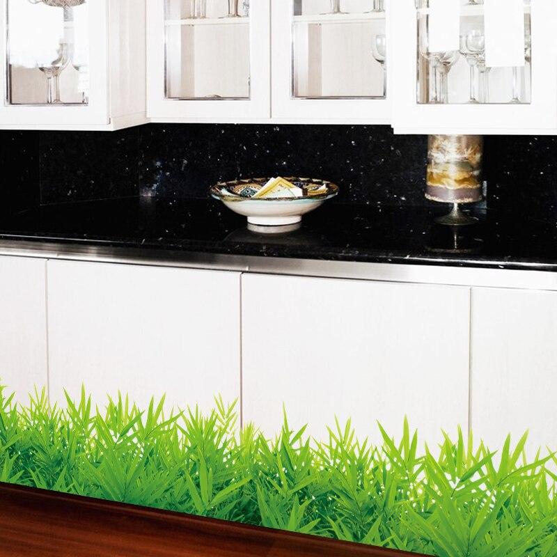 vinyl baseboard designs baseboard green grass waterproof diy removable art vinyl wall