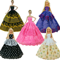 1 Pcs  Fashion  Wedding Dress Princess Gown Dress Clothes Gown For Barbie doll dress Free shipping