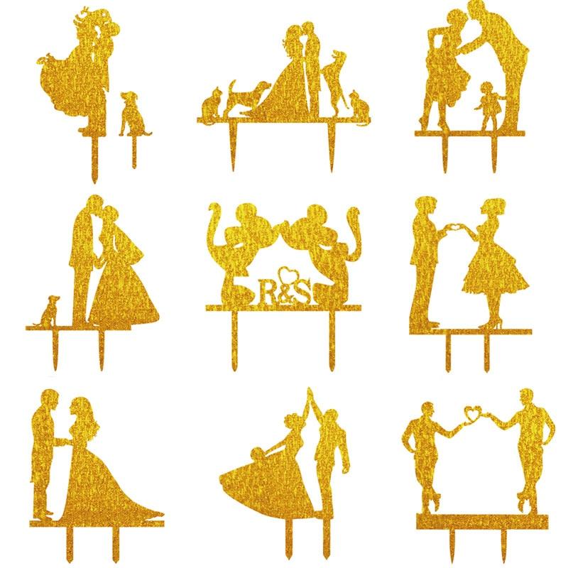 Multi feluri de Domnul & Doamna Bride Groom Cu Pet Domnul si Domnul - Produse pentru sărbători și petreceri