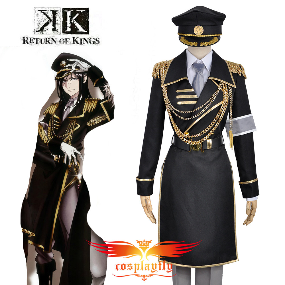 K Anime Return Of Kings Yatogami Kuroh Military Uniform Outfit Cosplay Costume Custom  Adult Men Outfit Clothing W0845
