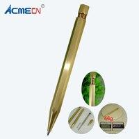 ACMECN новейшая 46 г латунная ручка с шестигранной конструкцией Твист Шариковая авторучка офисный инструмент для письма ремесло канцелярские